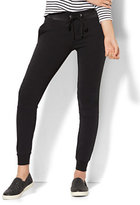 New York & Co. Faux Leather-Trim Drawstring Jogger