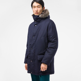 Paul Smith Men's Navy Wool Down-Filled Parka