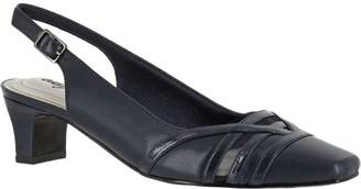Easy Street Shoes Square Toe Slingback Pumps - Kristen