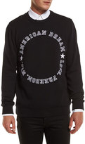 Givenchy American Dream Varsity Text Sweatshirt, Black