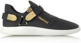 Giuseppe Zanotti Black Gommato Leather Low Top Men's Sneakers