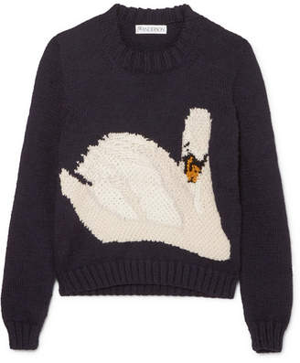 J.W.Anderson Intarsia Wool Sweater - Navy