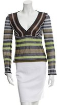 Missoni Striped V-Neck Top