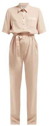 Pallas X Claire Thomson-jonville - Emotion Crepe And Satin Jumpsuit - Womens - Light Pink