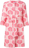 P.A.R.O.S.H. floral jacquard coat - women - Silk/Polyamide/Polyester - L