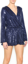 Honey Punch Long Sleeve Sequin Romper