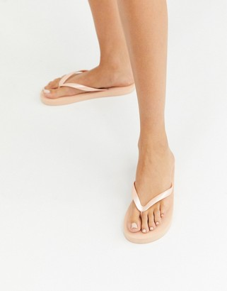 ASOS DESIGN Filter thongs in cream