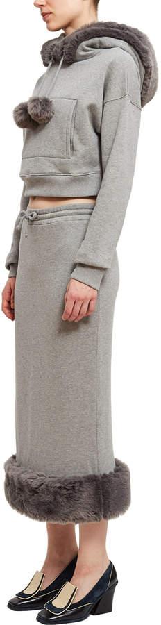 Opening Ceremony Fur Jersey Skirt