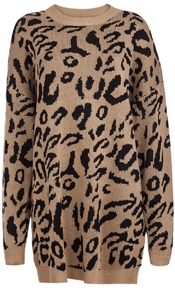 Goodnight Macaroon 'Sophia' Leopard Print Long Sweater (4 colors)