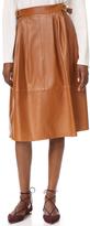 Derek Lam Buckled Leather Skirt