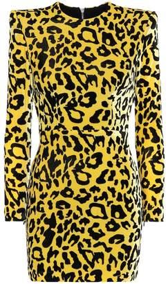 Alex Perry Jax leopard-print velvet minidress