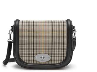 Mulberry Small Darley Satchel Black and Khaki Small Tartan Check