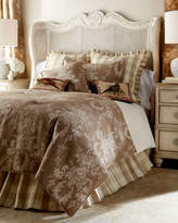 """Sherry Kline Home Country House Toile/Check Reversible Pillow, 18""""Sq."""