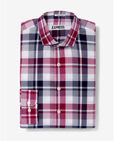 Express slim fit classic plaid dress shirt