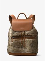 Michael Kors Kirk Fur and Leather Backpack