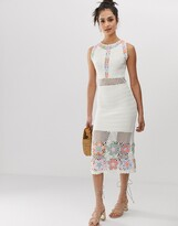 Asos DESIGN premium hand crochet midi dress