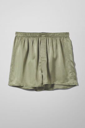Weekday Tom Woven Boxers - Green