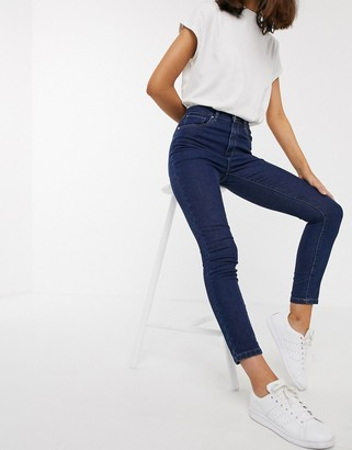 Only Paola high waisted ankle grazer jeans