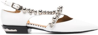 Toga Pulla Sphere-Embellished Ballerina Shoes