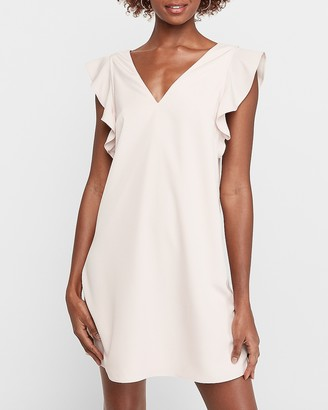 Express Ruffle Sleeve Shift Dress