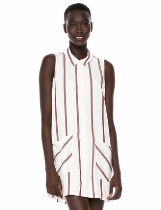 BCBGeneration Women's Striped A-Line Shirt Dress