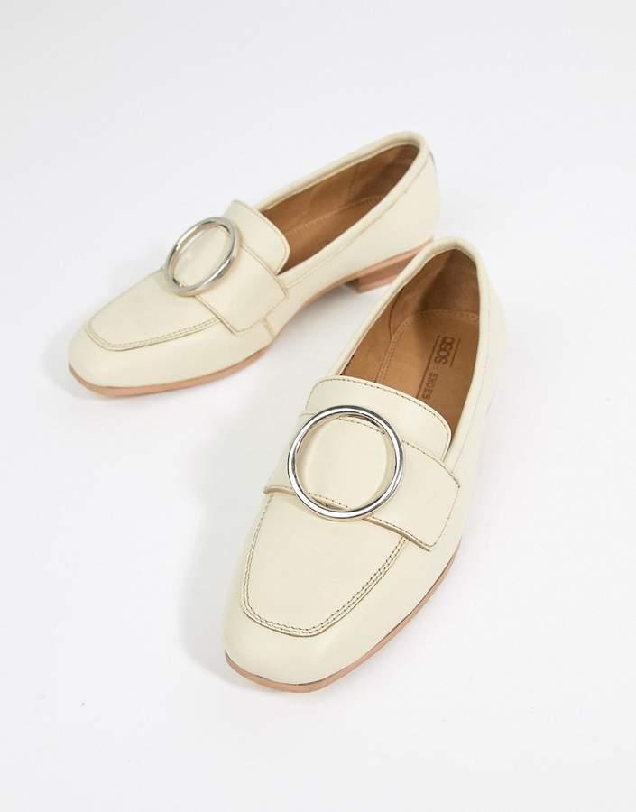 Asos Design DESIGN Magnet leather ring detail loafers