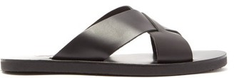 Ancient Greek Sandals Bios Leather Sandals - Mens - Black