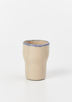 Helen Levi peach with blue rim tumbler
