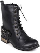 Journee Collection Mason Lace-Up Midcalf Combat Boots - Women