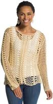 Chico's Christy Crochet Pullover