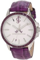 Juicy Couture Women's 1900971 Jetsetter Purple Leather Strap Watch