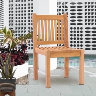 Chic Teak Elzas Teak Wood Indoor/ Outdoor Dining Side Chair
