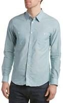 Sandro Goldfish Linen-blend Woven Shirt.