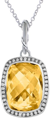 Peter Thomas Roth Sterling 8.60 ct Citrine Halo Pendant