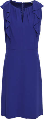 Elie Tahari Elleanora Ruffle-trimmed Crepe Mini Dress