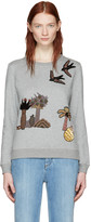 Valentino Grey Garden Of Delight Pullover