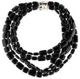 John Hardy Five Strand & Diamond Bamboo Bead Necklace
