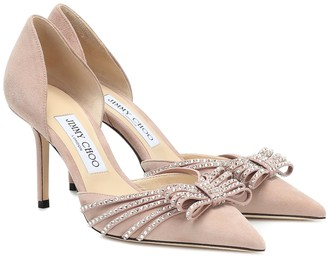 Jimmy Choo Exclusive to Mytheresa Kaitence 85 suede pumps