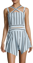 Finders Keepers Mies Stripes Criss Cross Top