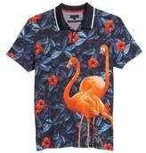 Ted Baker Ballgo Flamingo Print Polo Shirt