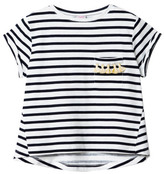 Little Karl Marc John Sale - Tipsy Pompom Pocket Striped T-Shirt