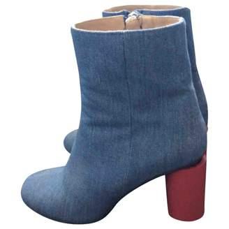 Acne Studios Blue Cloth Ankle boots