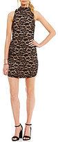 Jodi Kristopher Mock Neck Lace Sheath Dress