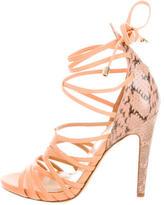 Aperlaï Leather Lace-Up Sandals w/ Tags