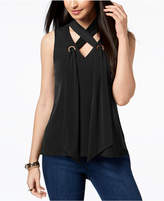 Thalia Sodi Lace-Up Grommet Top, Created for Macy's