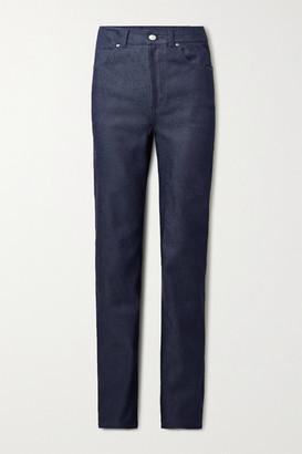 Commission - High-rise Straight-leg Jeans - Dark denim