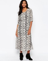Goldie Karley Maxi Dress In Snake Print