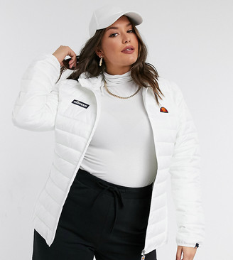 Ellesse Plus Quilted Jacket In White