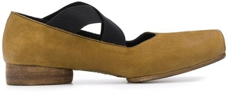 UMA WANG crossover strap ballerina shoes