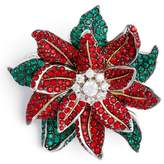 Nadri Women's Jolly Poinsettia Pin